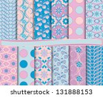 abstract floral vector set of... | Shutterstock .eps vector #131888153