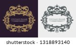 vector golden monogram.... | Shutterstock .eps vector #1318893140