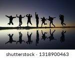 jumping at lake uyuni | Shutterstock . vector #1318900463