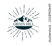 green hill mountain icon for... | Shutterstock .eps vector #1318903649