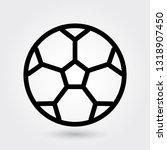 football vector icon  soccer... | Shutterstock .eps vector #1318907450