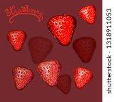 strawberry  illustration ... | Shutterstock .eps vector #1318911053