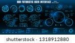 hud futuristic blue user...