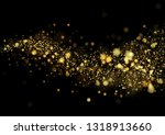gold glitter texture isolated... | Shutterstock .eps vector #1318913660
