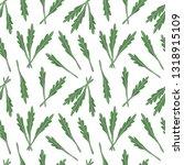 arugula seamless vector pattern....   Shutterstock .eps vector #1318915109