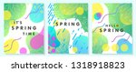 set of unique spring cards with ... | Shutterstock .eps vector #1318918823