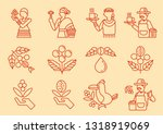 local coffee farmer line icon... | Shutterstock .eps vector #1318919069