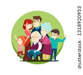 vector illustration of a large... | Shutterstock .eps vector #1318920953
