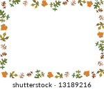 fallen leaves boarder | Shutterstock . vector #13189216