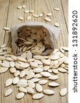 Pumpkin Seeds In A Sack On The...