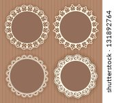 collection lace frames. vector...   Shutterstock .eps vector #131892764