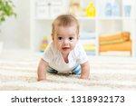 nursery baby boy crawling on...   Shutterstock . vector #1318932173