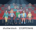 group people watching movie and ...   Shutterstock .eps vector #1318933646