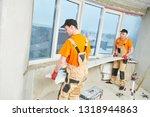 installation windowsill from... | Shutterstock . vector #1318944863
