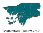 high detailed blue vector map ... | Shutterstock .eps vector #1318959710