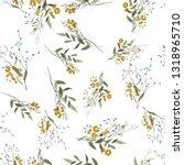 blossom floral seamless pattern.... | Shutterstock .eps vector #1318965710