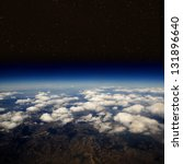high altitude view of the earth ... | Shutterstock . vector #131896640