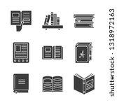 vector set of  books glyph... | Shutterstock .eps vector #1318972163