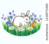 easter greeting card with... | Shutterstock .eps vector #1318972400