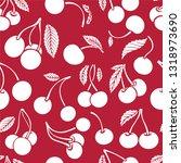 cherry seamless background.... | Shutterstock .eps vector #1318973690