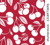 cherry seamless background.... | Shutterstock .eps vector #1318973696