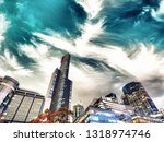 night city view of buildings...   Shutterstock . vector #1318974746