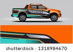truck wrap design. wrap ... | Shutterstock .eps vector #1318984670