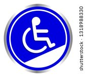 disabled signs circle frame... | Shutterstock .eps vector #1318988330