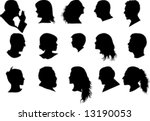 profiled silhouette of man and... | Shutterstock .eps vector #13190053