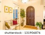 Classic American home entrance interior
