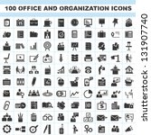 100 office and organization... | Shutterstock .eps vector #131907740