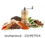 spices and herbs isolated on... | Shutterstock . vector #131907914