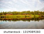 wooden arbors are located above ...   Shutterstock . vector #1319089283