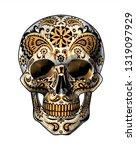 sugar skull. day of the dead... | Shutterstock . vector #1319097929