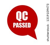 qc passed red banner.designed...