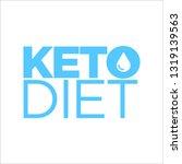 keto diet icon | Shutterstock .eps vector #1319139563