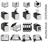 set of icons of books. vector...