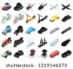 different types of transport... | Shutterstock .eps vector #1319146373