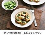 stuffed chicken fillet with...   Shutterstock . vector #1319147990