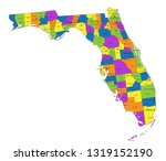 colorful florida political map... | Shutterstock .eps vector #1319152190