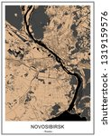 vector map of the city of... | Shutterstock .eps vector #1319159576