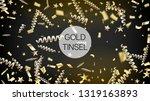 modern realistic gold tinsel...   Shutterstock .eps vector #1319163893
