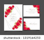 floral wedding invitation with...   Shutterstock .eps vector #1319164253