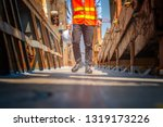 legs wearing safety shoe of the ... | Shutterstock . vector #1319173226