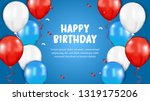 happy birthday greeting card... | Shutterstock .eps vector #1319175206