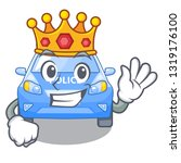 king car police isolated with... | Shutterstock .eps vector #1319176100