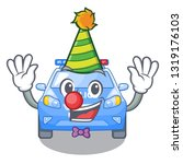 clown car police isolated with... | Shutterstock .eps vector #1319176103