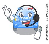with headphone car police... | Shutterstock .eps vector #1319176106