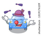 juggling car police isolated... | Shutterstock .eps vector #1319176109