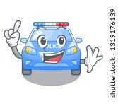 finger car police isolated with ... | Shutterstock .eps vector #1319176139